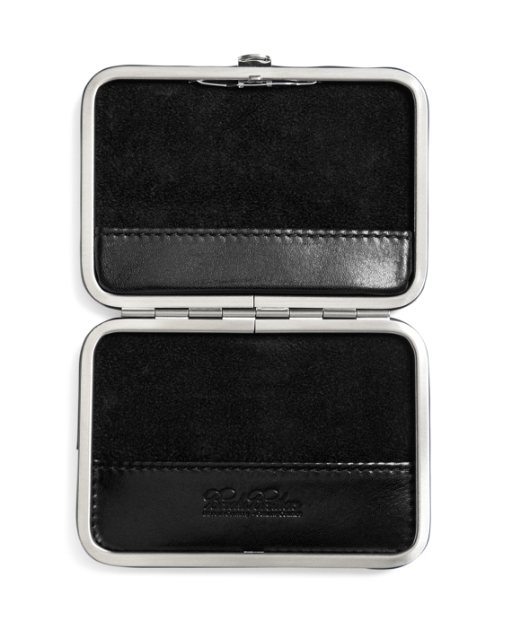 Leather business card case brooks brothers black black colourmoves