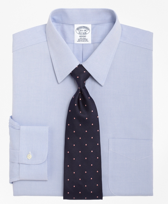 Non-Iron Regent Fit Point Collar Dress Shirt Light Blue