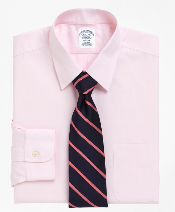 Non-Iron Slim Fit Point Collar Dress Shirt Pink