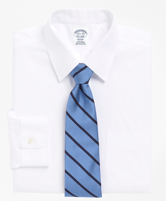 Non-Iron Slim Fit Point Collar Dress Shirt White