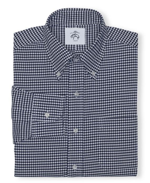 Black Fleece Gingham Button-Down Shirt Navy