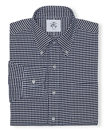 Black Fleece Gingham Button-Down Shirt