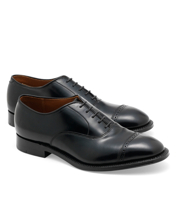 Cordovan Perforated Captoes Black