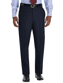 Madison Fit Plain-Front Wool Flannel Trousers