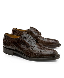 Genuine American Alligator Lace-Up Wingtips