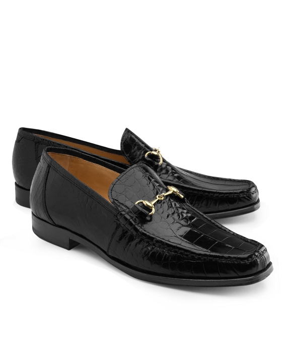 Genuine American Alligator Classic Bit Loafers Black
