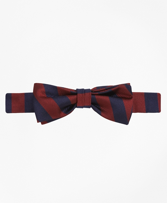 Guard Striped Bow Tie Burgundy-Navy