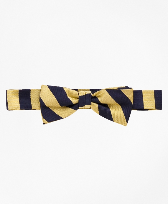 Guard Striped Bow Tie Gold-Navy