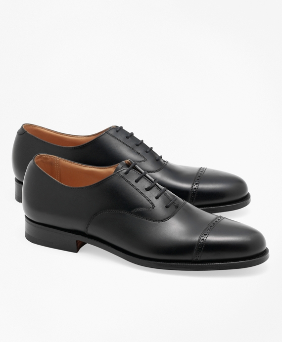Peal & Co.® Perforated Captoes Black