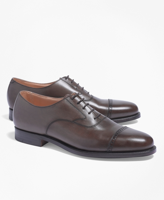 Peal & Co.® Perforated Captoes Dark Brown