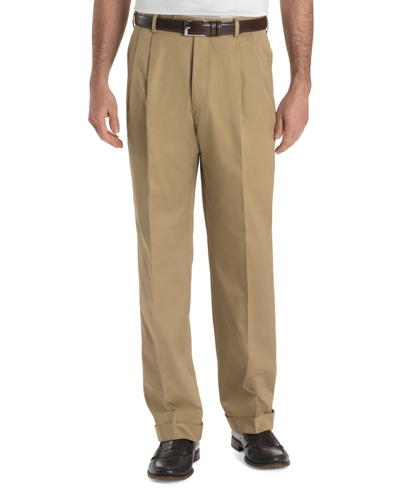 Country Club Better Cotton Pleat-Front Trousers Khaki