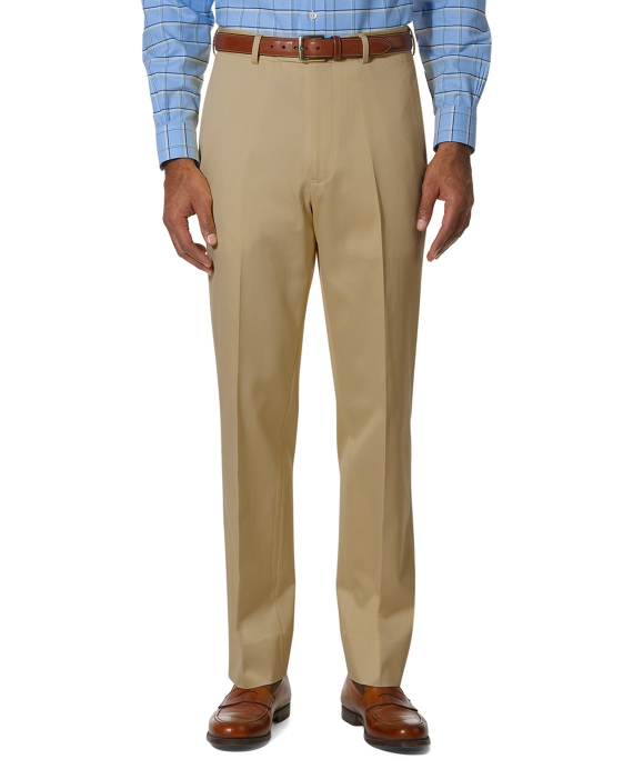 Country Club Better Cotton Plain-Front Trousers Khaki