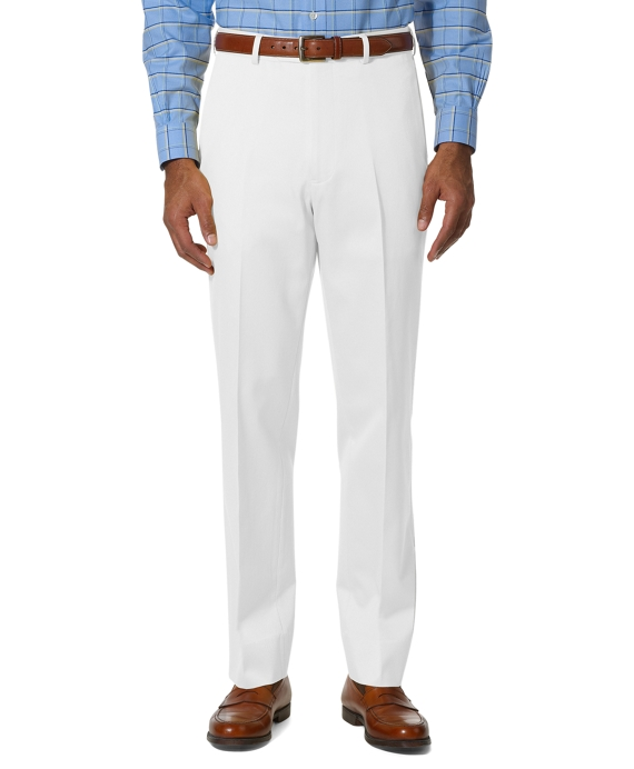 Country Club Better Cotton Plain-Front Trousers White
