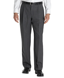 Country Club Saxxon Wool Madison Fit Pleat-Front Trousers