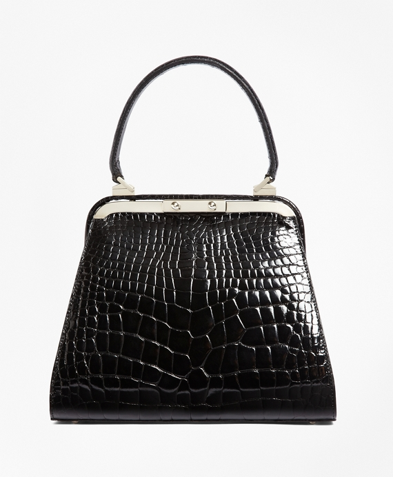 Alligator Handbag Black