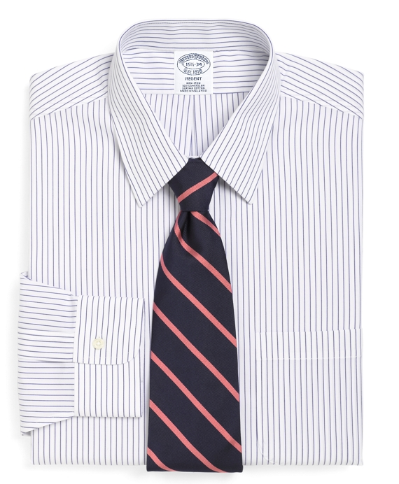 Non-Iron Regent Fit Pencil Stripe Dress Shirt White