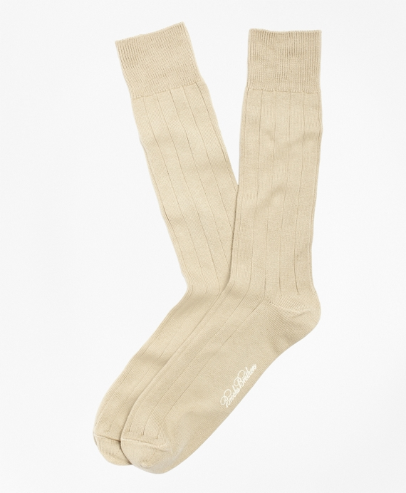 Ribbed Crew Socks Khaki