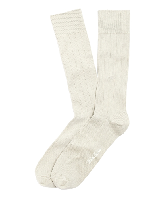 Ribbed Crew Socks Natural