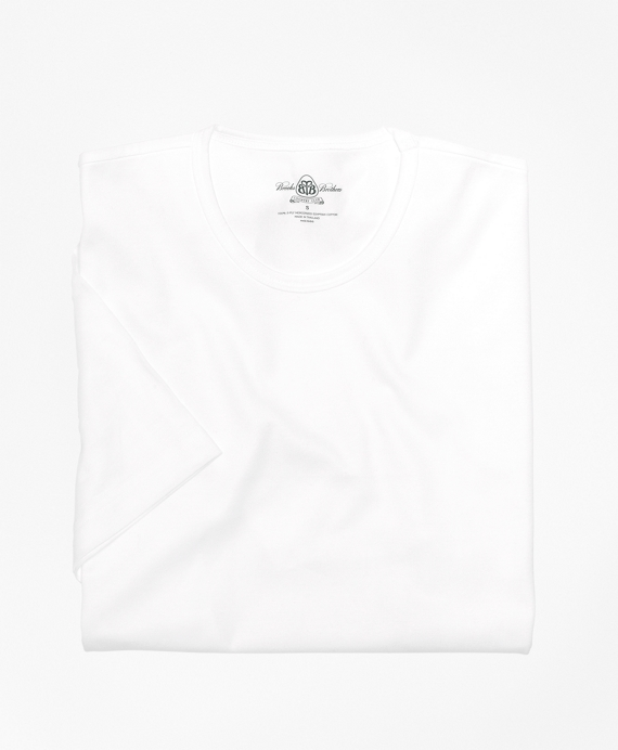 Country Club Mercerized Cotton Crewneck White
