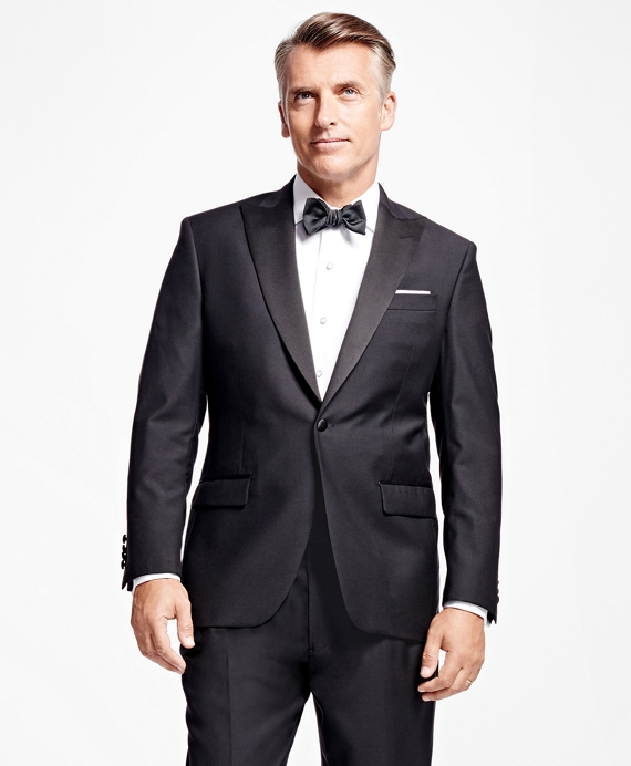 One-Button Peak Lapel Tuxedo Jacket Black