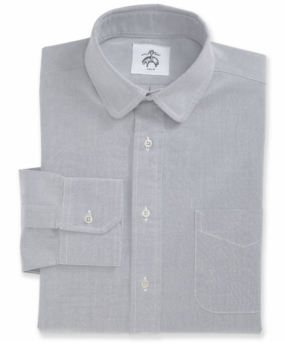 Round Collar Shirt Pale Grey