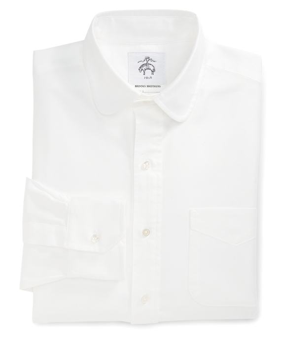 Round Collar Shirt White