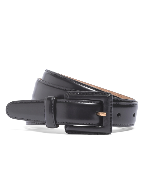 Square Covered Buckle Belt Black