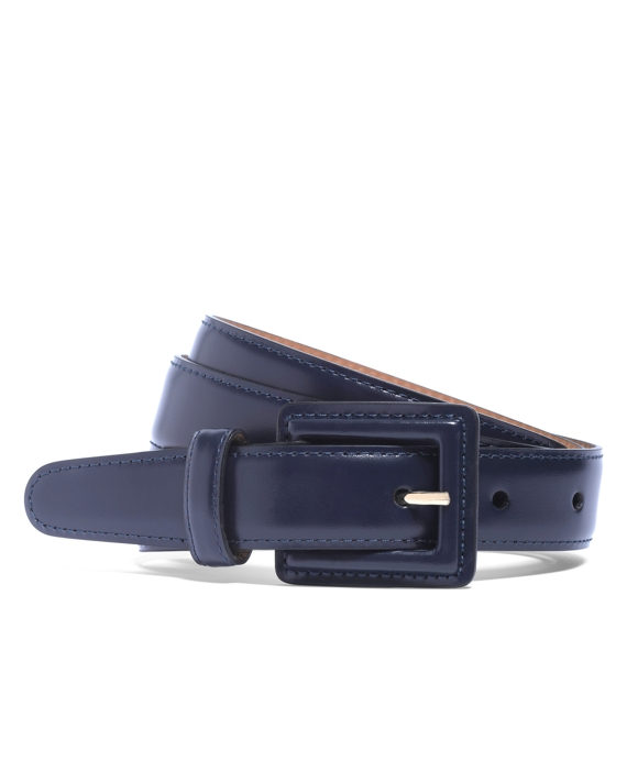 Square Covered Buckle Belt Navy