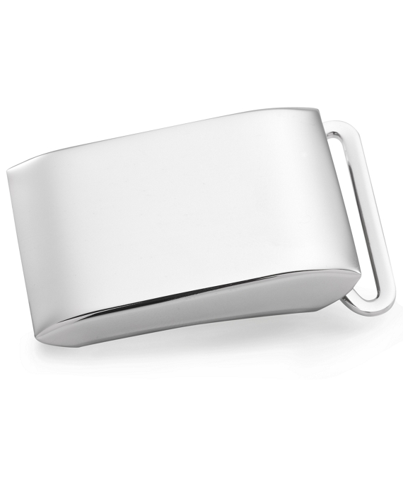 Sterling Plain Plaque Buckle Sterling Silver
