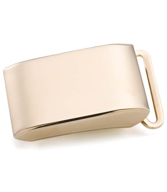 Gold Plated Sterling Plain Plaque Buckle Gold Plated