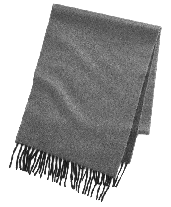 Reversible Two-Tone Cashmere Scarf Grey