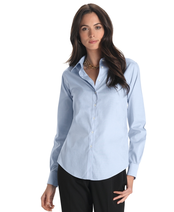 Women 39 s classic white dress shirt custom shirt for Brooks brothers custom shirt