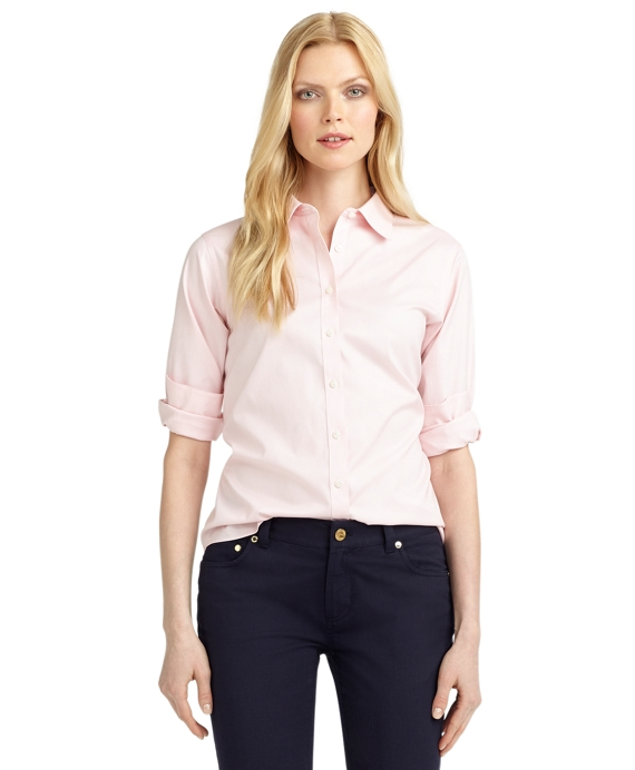Petite Non-Iron Classic Fit Dress Shirt Pink