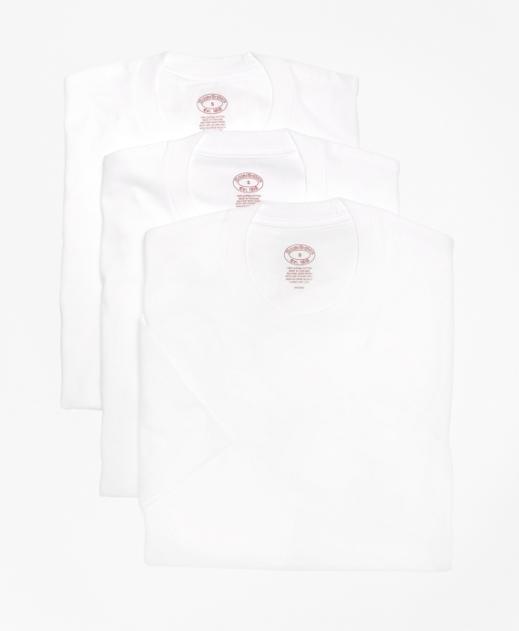 Supima® Cotton Crewneck Undershirt - Three Pack White