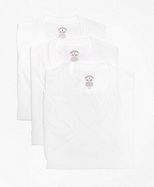 Supima® Cotton V-Neck Undershirt - Three Pack
