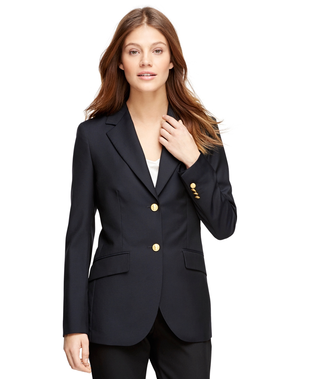Women's Classic Single-Breasted Navy Blue Blazer | Brooks Brothers
