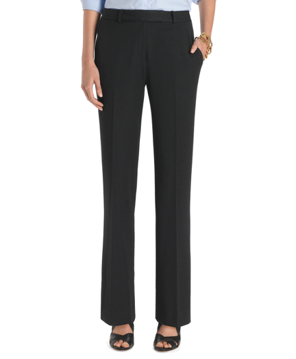 Plain-Front Caroline Fit Fluid Stretch Dress Trousers