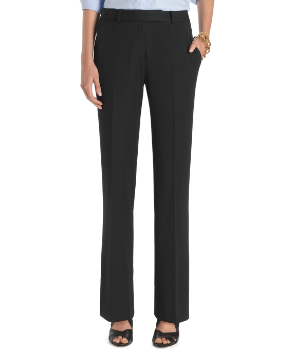 Women's Plain-Front Caroline Fit Fluid Stretch Dress Pants ...