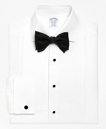 Regent Fit Bib-Front Spread Collar Tuxedo Shirt