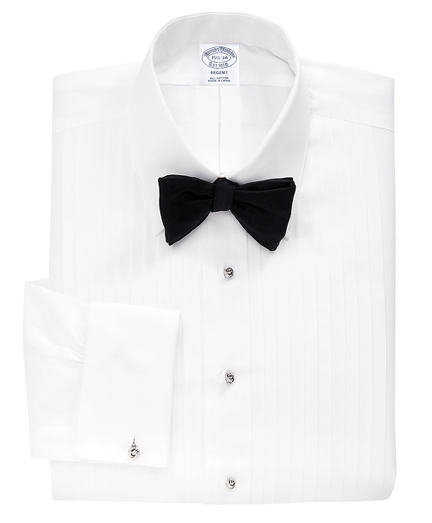 Regent Fit Ten-Pleat Tennis Collar Tuxedo Shirt