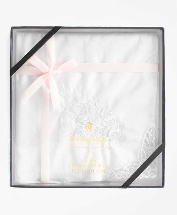Women's Embroidered Handkerchiefs White