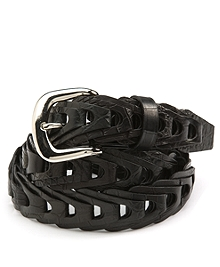 Braided Crocodile Belt