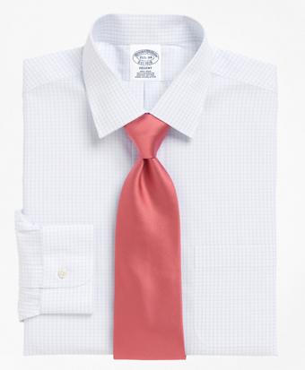 Non-Iron Regent Fit Medium Check Dress Shirt