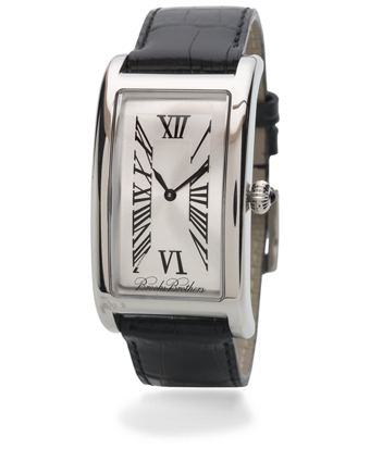 Gentleman's Rectangular Watch with Black Band