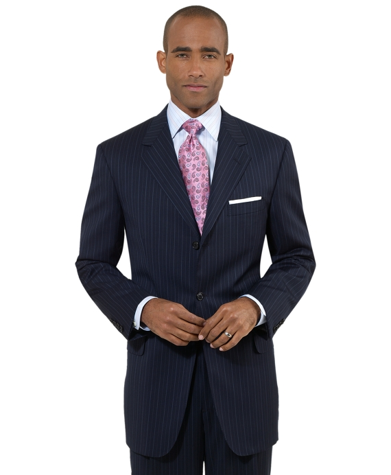 Fitzgerald Alternating Stripe 1818 Suit Navy