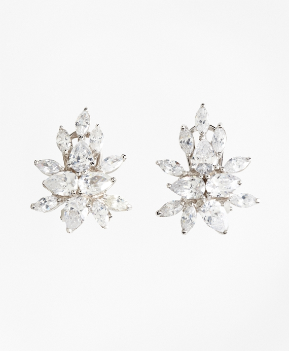 Marquis-Cut Cluster Stud Earrings