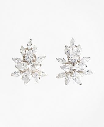 Pierced Marquis Stud Earrings