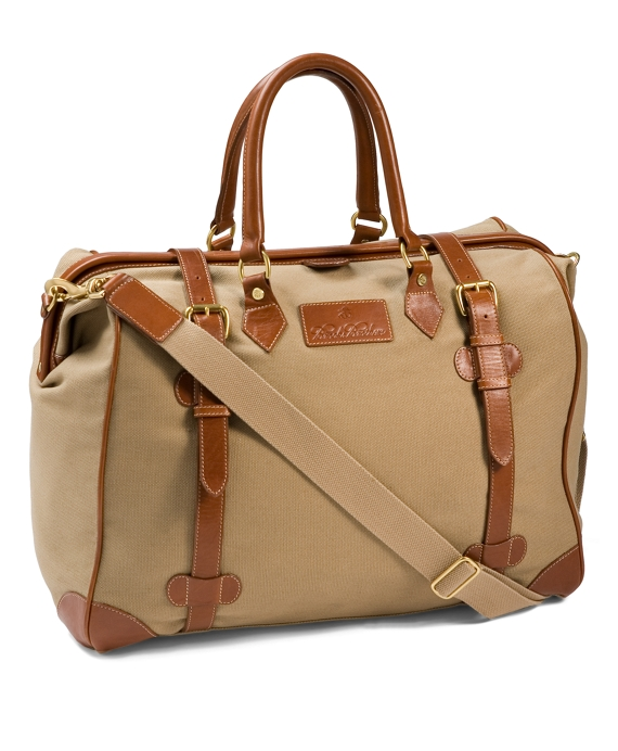 Canvas Leather Travel Bag British Tan