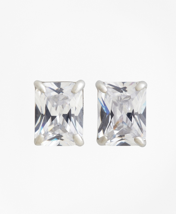 Pierced Square Stud Earrings As Shown