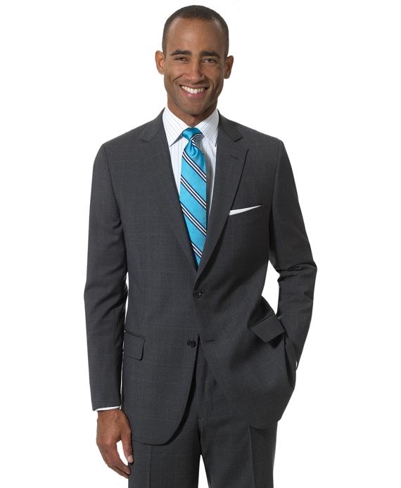 Fitzgerald Windowpane 1818 Suit Grey